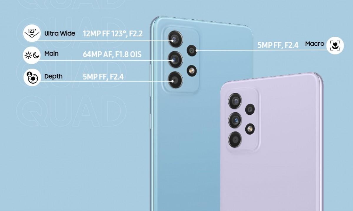 Samsung анонсирует Galaxy A52, A52 5G и A72 с дисплеями 90 Гц и четырьмя камерами на 64 МП