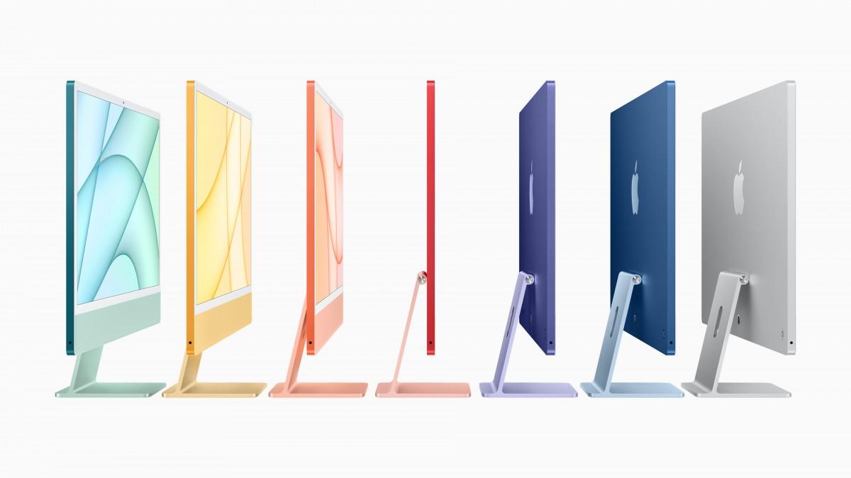 Apple представляет новый красочный iMac с M1, начиная с на $ 1299