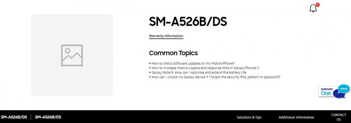 Samsung Galaxy A52 Запуск 5G в Индии неизбежен, так как страница поддержки появится на официальном сайте