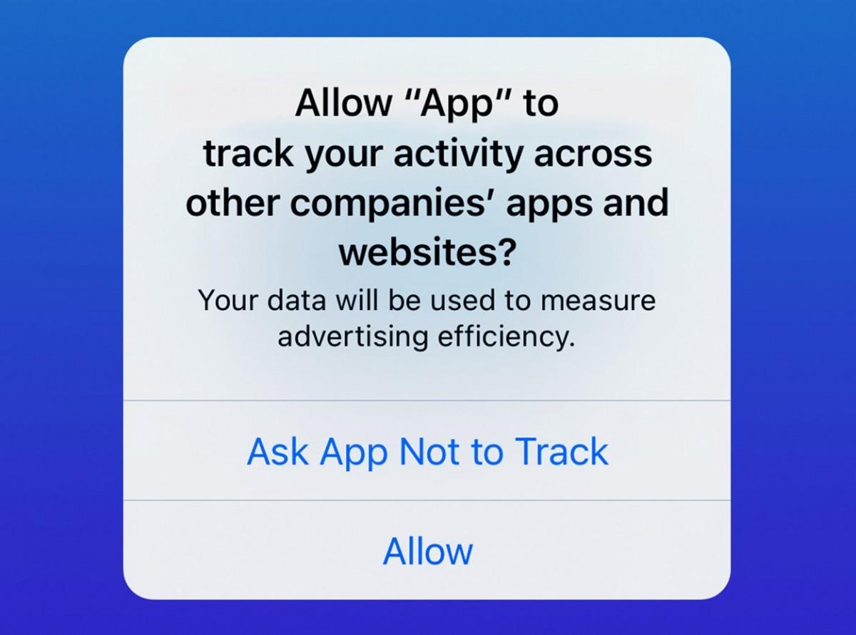 Подсказка Apple о прозрачности отслеживания приложений на iOS