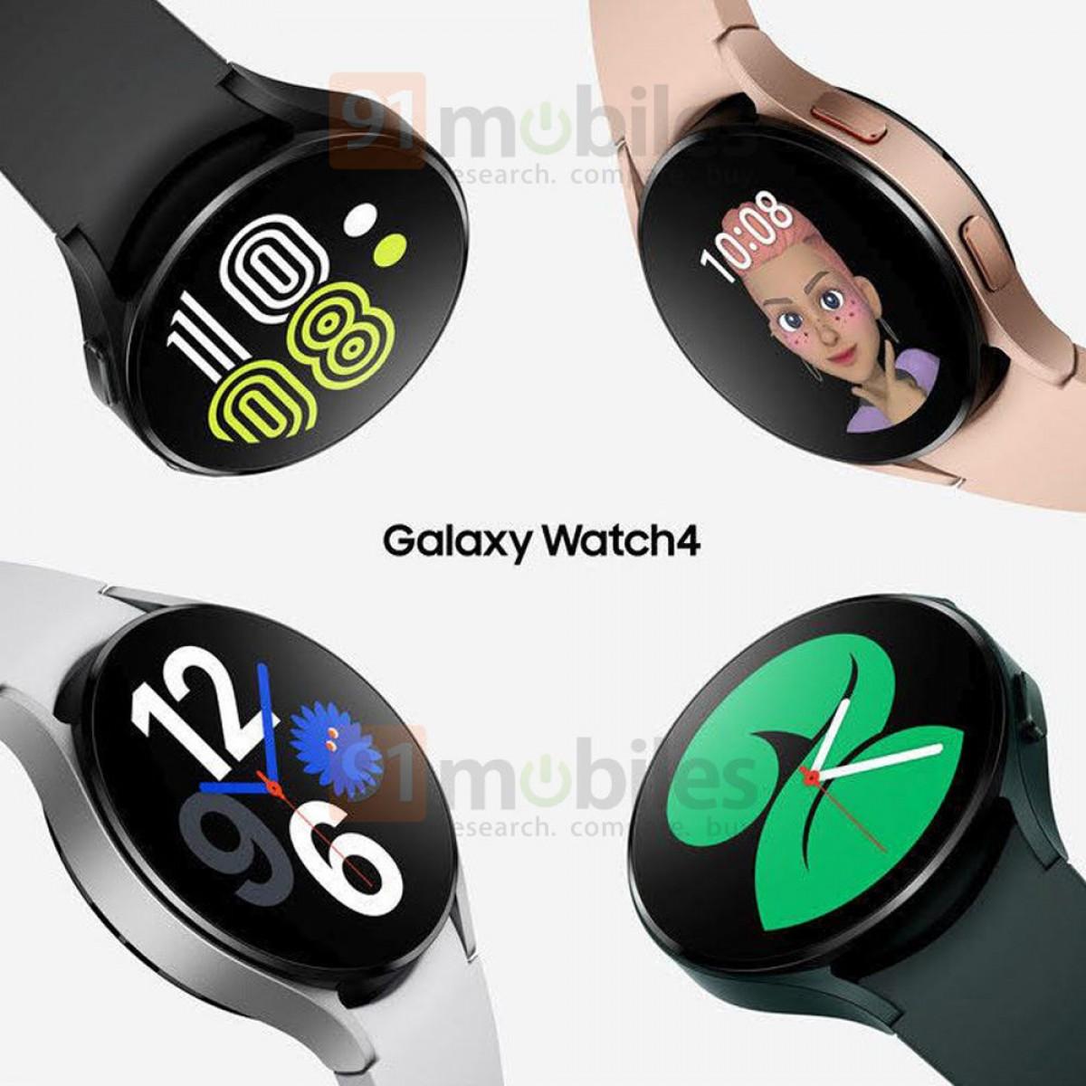 Предполагаемая утечка официальных рендеров Samsung Galaxy Watch4