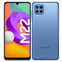 Samsung Galaxy M22 в синем цвете