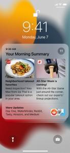Новое в iOS 15: измененный дизайн уведомлений