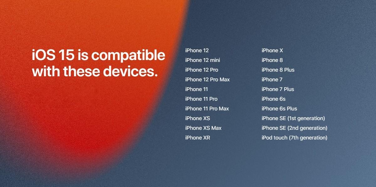 iOS 15, iPadOS 15 и watchOS 8 начинают развертываться сегодня же