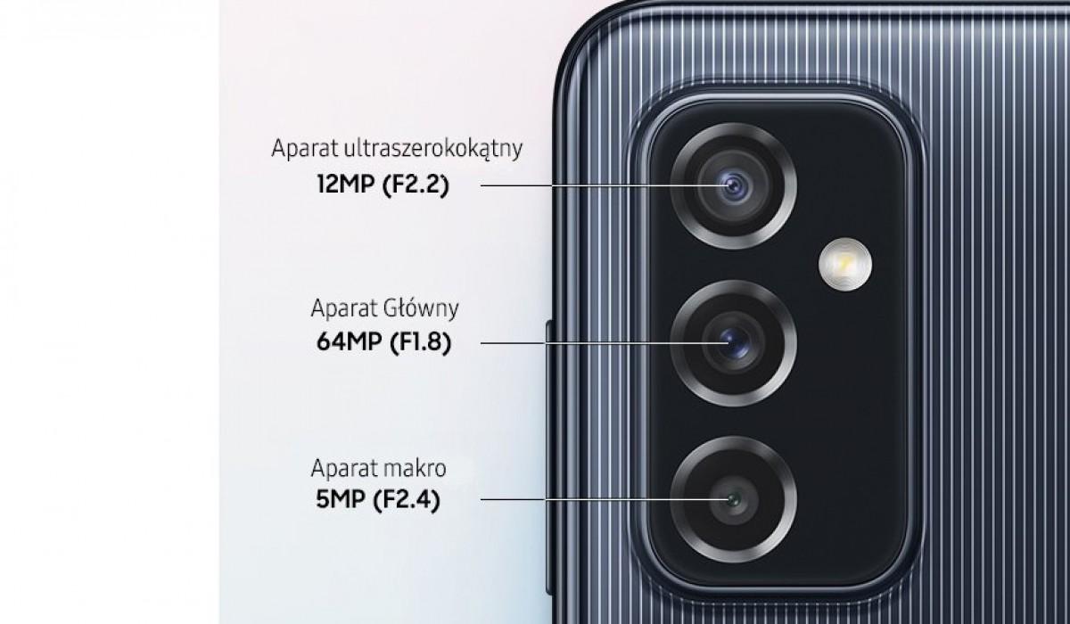 Samsung Galaxy M52 5G считается официальным в Польше