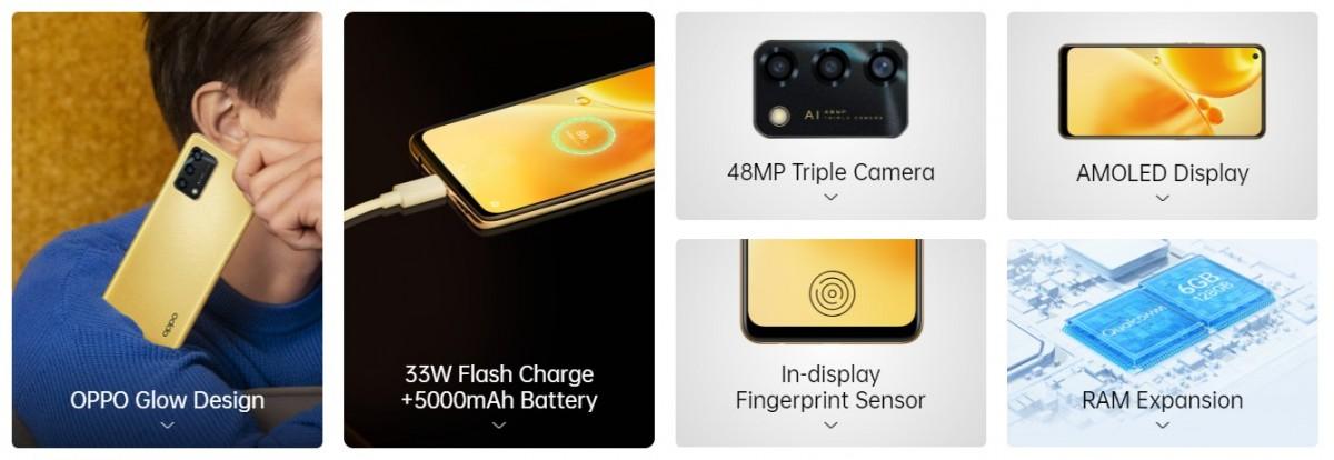 Представлены модели Oppo F19 с аналогичными характеристиками F19, Reno6 Pro получает версию Diwali Edition